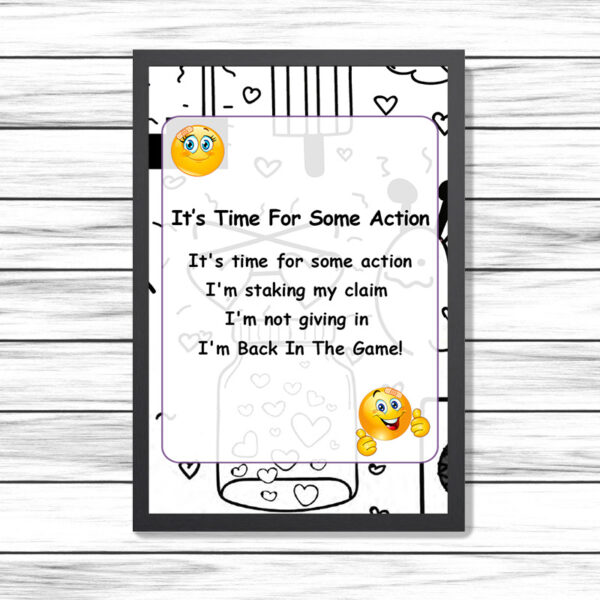 It's Time For Some Action Printed Poem