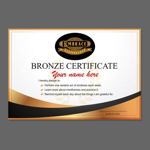 Printed Bronze Certificate