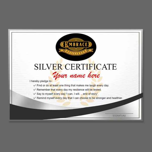 Printed Silver Certificate
