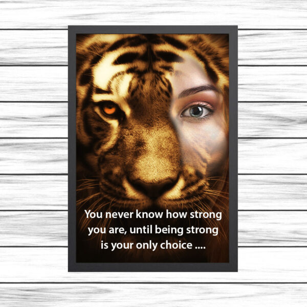 You never know how strong you are, until being strong is your only choice ....